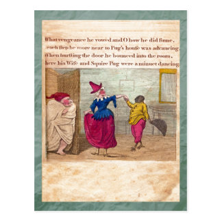 Punch & Judy Story Plate VIII Postcard