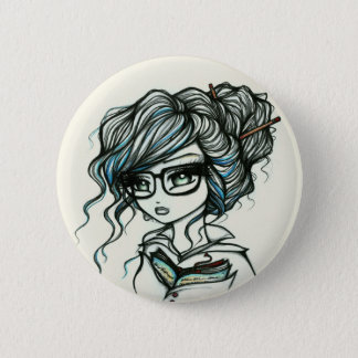Punch of Color Book Girl Fairy Fantasy Pinback Button