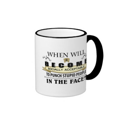 Punch People in Face Mugs