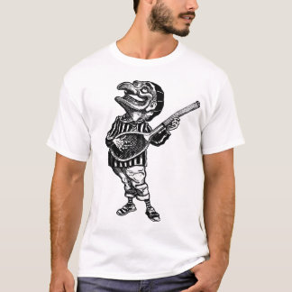 Punch playing air guitar on a tennis racket T-Shirt