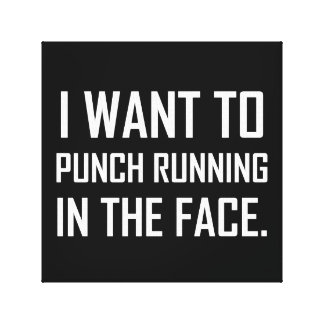 Punch Running In The Face Canvas Print