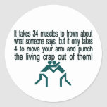 Punch The Crap Out Of Them Sticker
