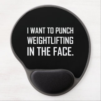 Punch Weightlifting In The Face Gel Mouse Pad