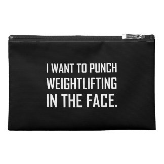 Punch Weightlifting In The Face Travel Accessory Bag