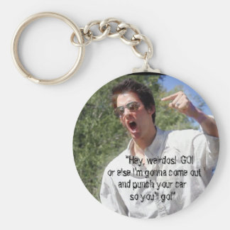 """Punch Your Car So You'll Go"" Keychain"
