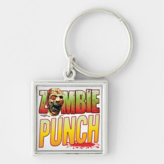 Punch Zombie Head Key Chains