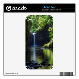 Punchbowl Falls Along Eagle Creek Trail 2 Decal For The iPhone 4S
