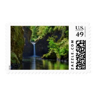 Punchbowl Falls Along Eagle Creek Trail Postage