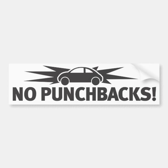 Punchbuggy Black No Punchbacks Bumper Sticker Zazzle Com