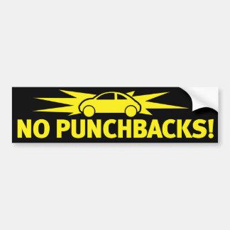 Punchbuggy Yellow - No Punchbacks! Bumper Sticker