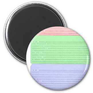 punched card 2 inch round magnet