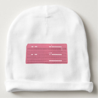 Punched card transparent background baby beanie