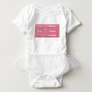 Punched card transparent background baby bodysuit