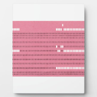 Punched card transparent background plaque
