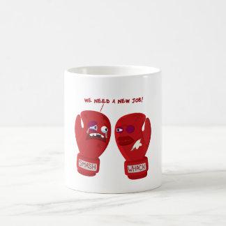 Punched out! basic white mug