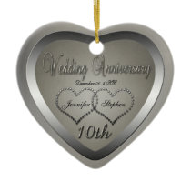 Punched Tin Look 10 Year Anniversary Ornament