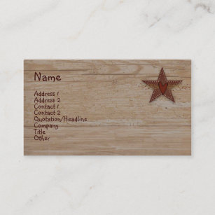 Punched Tin Star Business Card