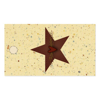Punched Tin Star Hang Tag Business Card