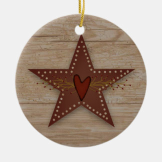 Punched Tin Star Ornament