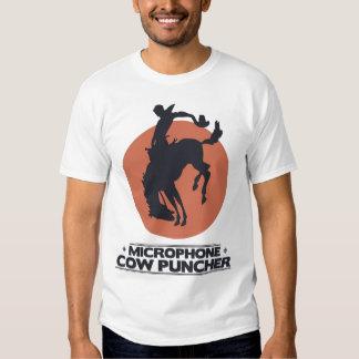 Puncher de la vaca del micrófono playeras