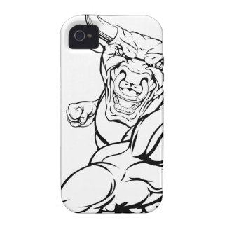 Punching bull mascot case for the iPhone 4