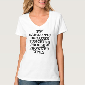 PUNCHING IS FROWNED UPON FUNNY T-Shirt