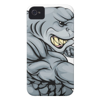 Punching shark mascot Case-Mate iPhone 4 case