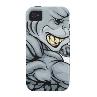 Punching shark mascot Case-Mate iPhone 4 cover