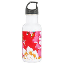Punchy floral pattern water bottle