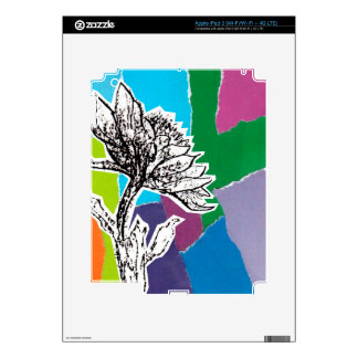 Punchy flowers decals for iPad 3
