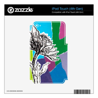 Punchy flowers skins for iPod touch 4G