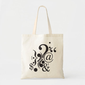Punctuation Art Budget Tote