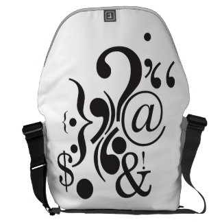 Punctuation Art Large Messenger Bag