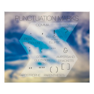 Punctuation Marks Modern Typographic Poster