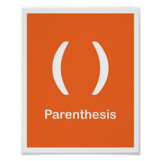 Punctuation Marks- Parenthesis Poster