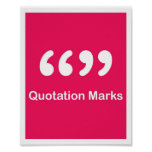 Punctuation Marks- Quotation Marks Print