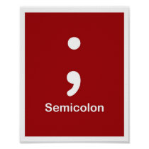 Punctuation Marks- Semicolon Poster