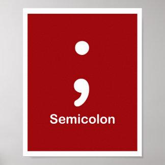 Punctuation Marks- Semicolon Poster