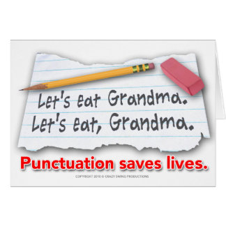 Punctuation Saves Lives Card