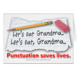 Punctuation Saves Lives Cards