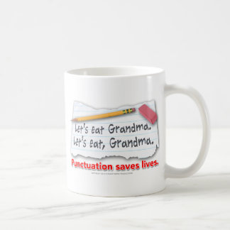 Punctuation Saves Lives Classic White Coffee Mug