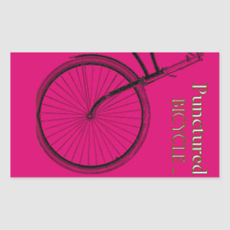 Punctured bicycle stickers