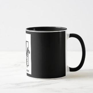 """PUNDA MILIA"" 11 oz. RINGER ZEBRA COFFEE MUG"