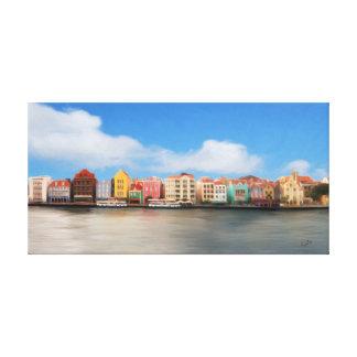 Punda, Willemstad, Curaçao Stretched Canvas Print