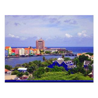 Pundaside of Willemstad Curacao on Postcard
