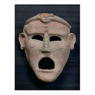 Punic charm mask, 3rd-2nd century BC Postcard
