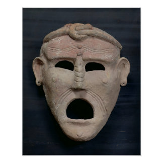 Punic charm mask, 3rd-2nd century BC Poster