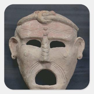 Punic charm mask, 3rd-2nd century BC Square Sticker