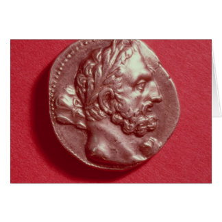 Punic coin bearing the head of Hamilcar Barca Greeting Card