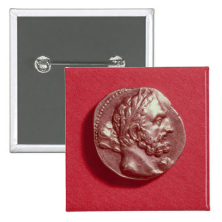 Punic coin bearing the head of Hamilcar Barca Pinback Button